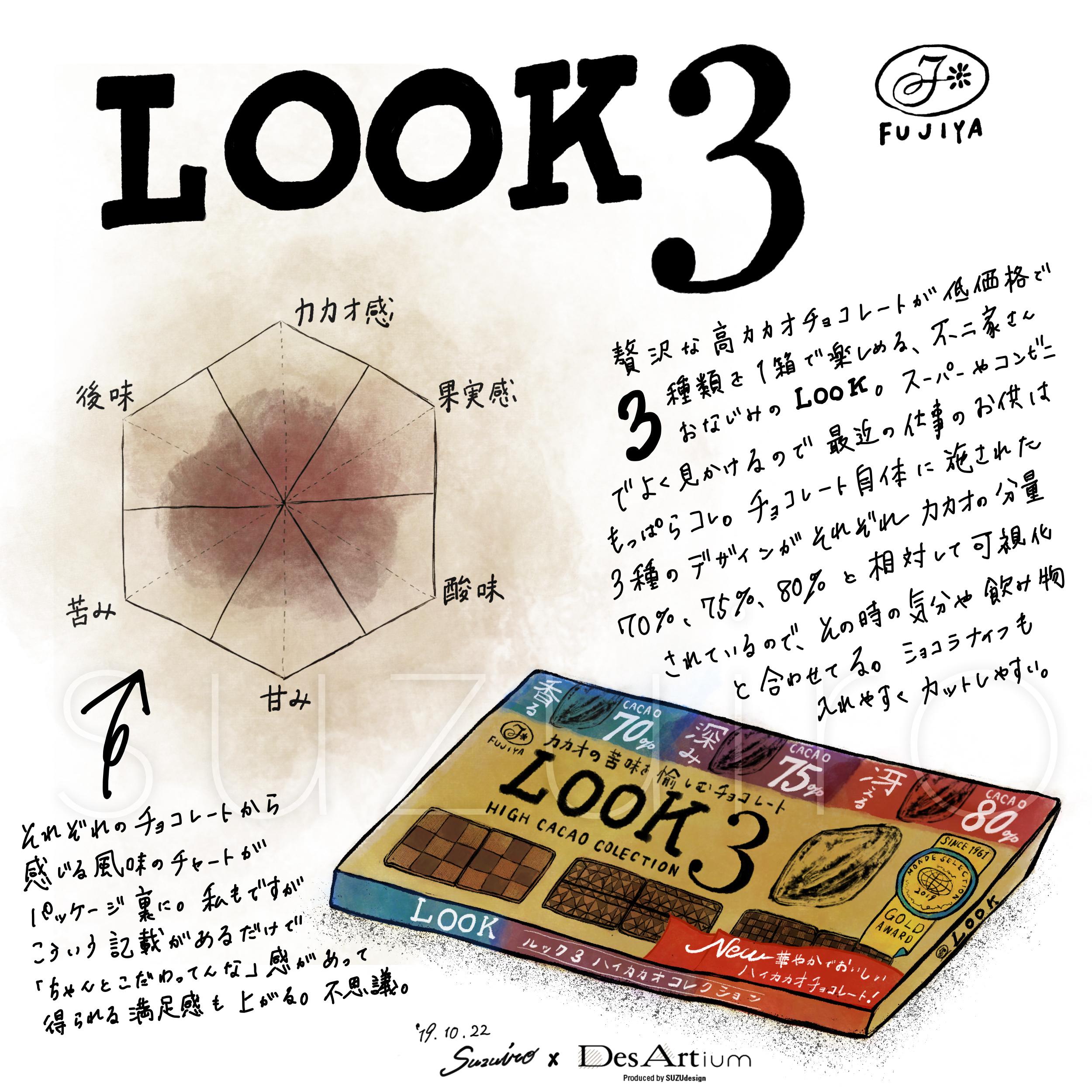 LOOK3(不二家)〜3種の高カカオアソート〜 column