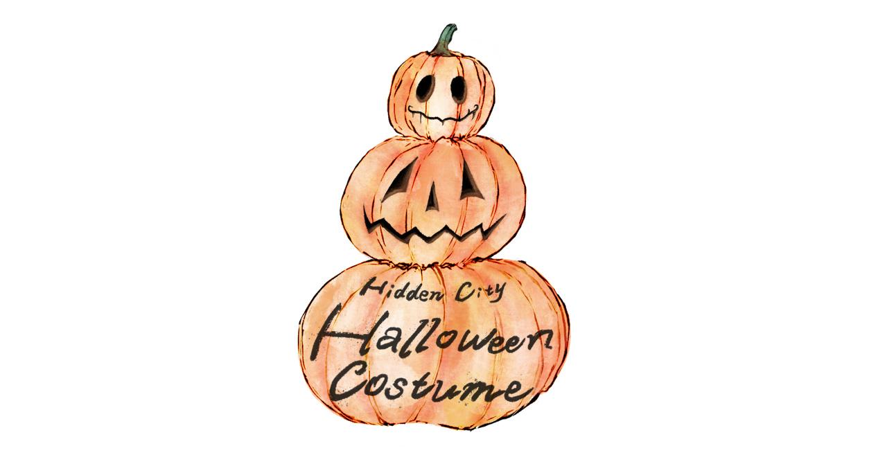 ハロウィンイラスト 〜HiddenCity登場人物から学べるファッション〜 header ヘッダー hiddencity